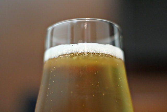bier in glas